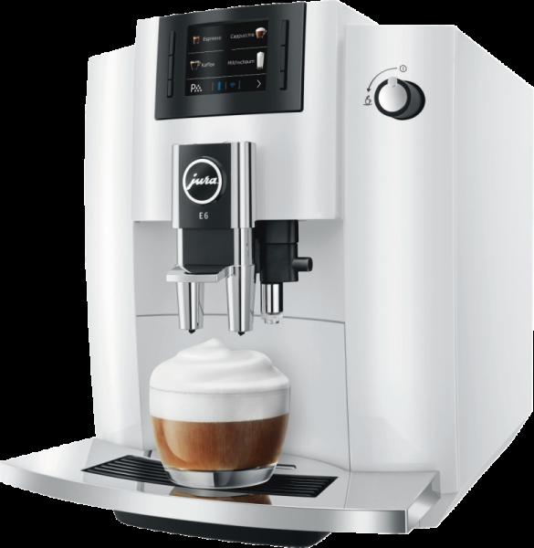 JURA E6 Modell 2019 Pianoweiss Kaffeevollautomat