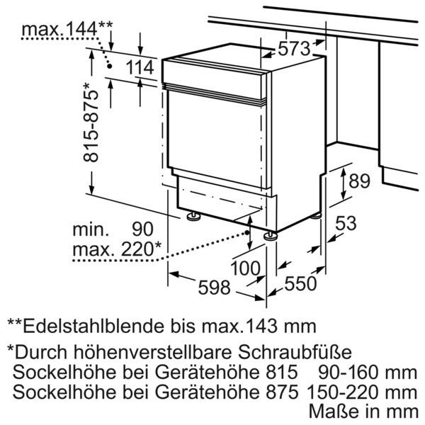 Neff Spülmaschine S41M68N7EU integrierbar Einbau Edelstahl