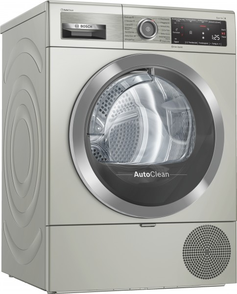 Bosch WTX87KX0 Serie | 8, Wärmepumpentrockner, 9 kg, silber-inox