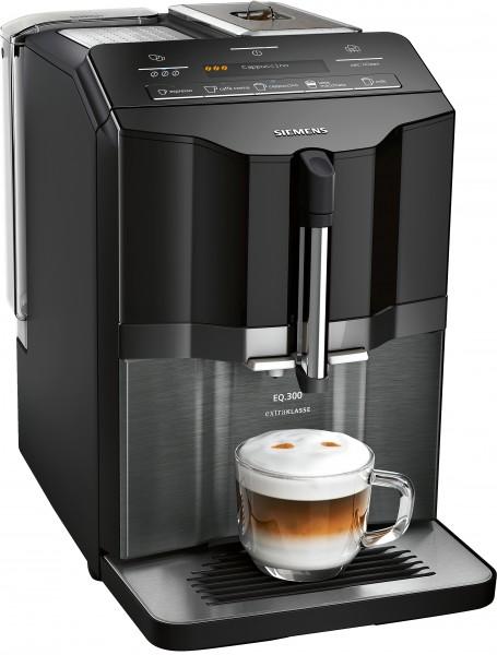 Siemens TI355F09DE Kaffeevollautomat, EQ.300 extraKlasse, schwarz Glas