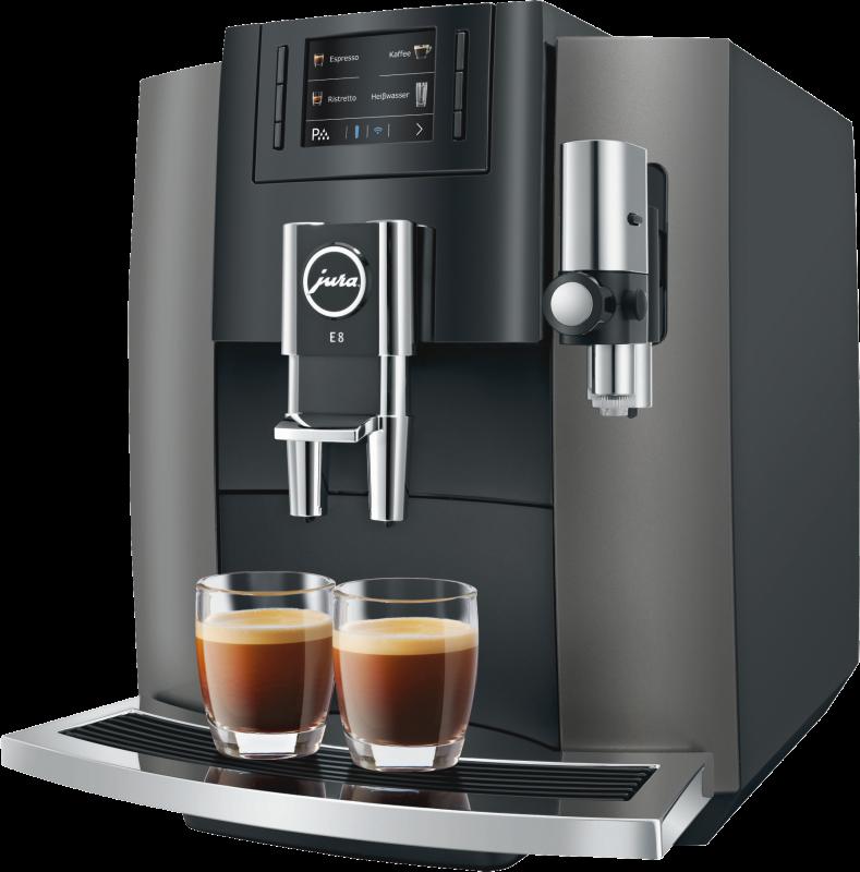 JURA E8 (Modell 2018) Dark Inox Kaffeevollautomat