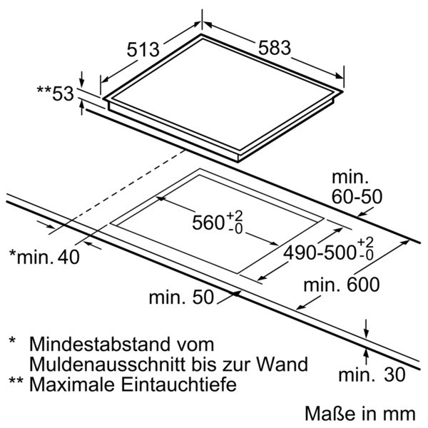 Bosch Einbau Herd Set HND33MS55 EXCLUSIV inkl.Lieferung bis zum Verwendungsort