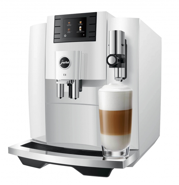JURA E8 (EB) Piano White Kaffee-Vollautomat