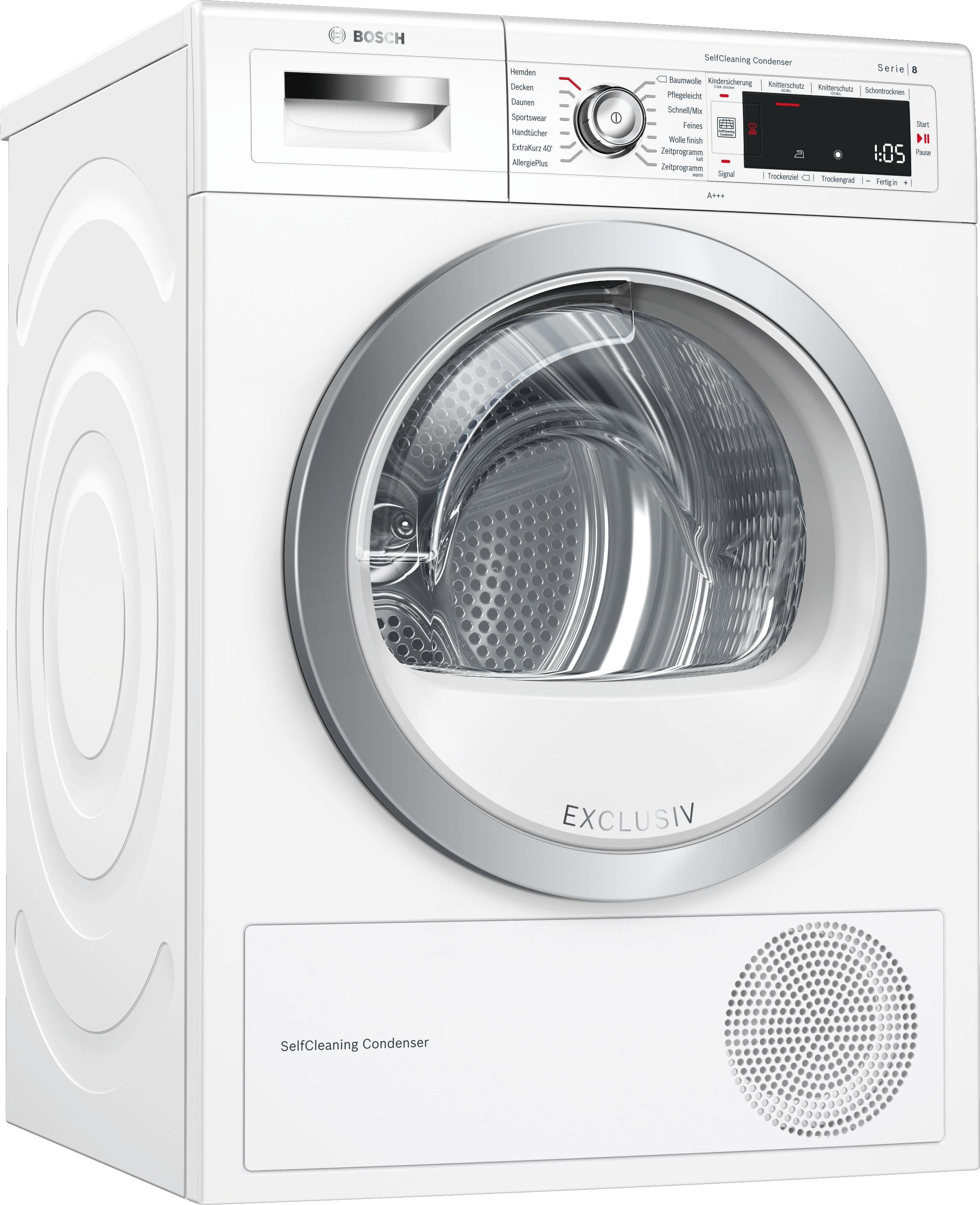 Bosch WTW875E27 Warmepumpentrockner Exclusiv SelfCleaning Condenser