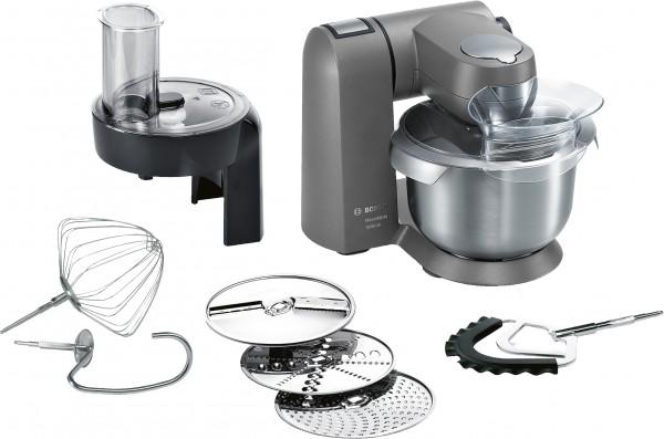 Bosch MUMX25GLDE MaxxiMUM Küchenmaschine in Granitgrey Vollmetall