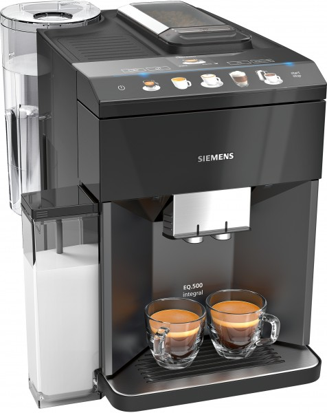 Siemens TQ505DF8 Kaffeevollautomat, EQ.500 integral extraKlasse, Schwarz