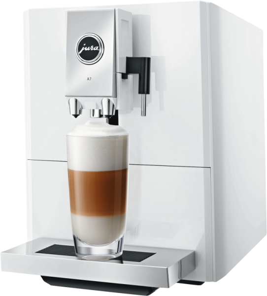 Jura A7 piano white Kaffeevollautomat P.E.P.®:Puls-Extraktionsprozess