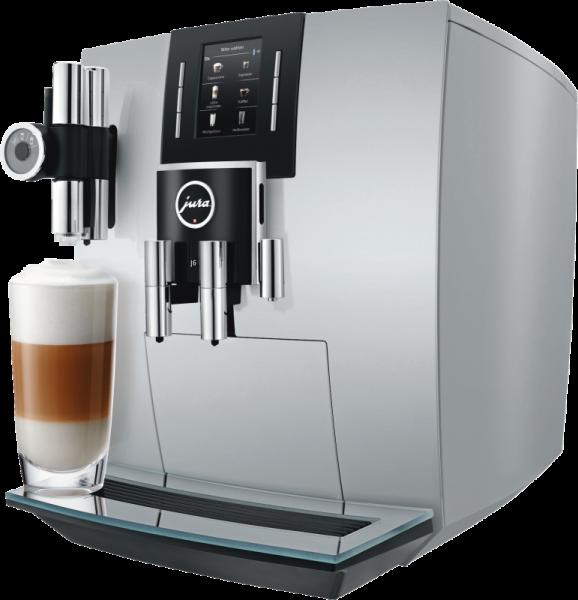 JURA J6 Brillantsilber Kaffeevollautomat P.E.P.® Feinschaum-Technologie