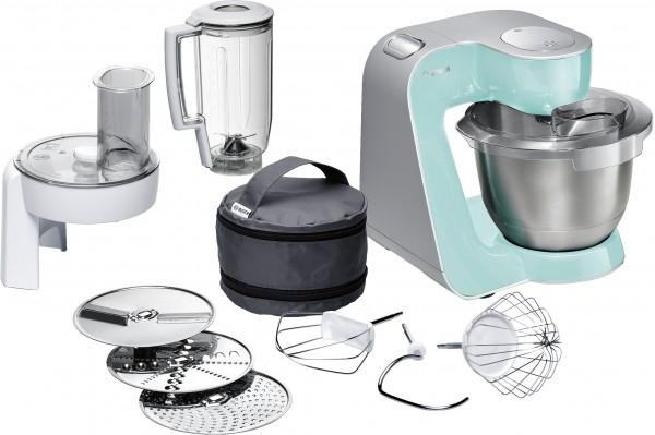 Bosch MUM58020 Küchenmaschine, MUM5, 1000 W turquoise/silber