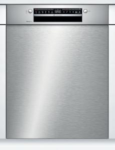 Bosch SMU4HBS48E Serie | 4, Unterbau-Geschirrspüler, 60 cm, Edelstahl