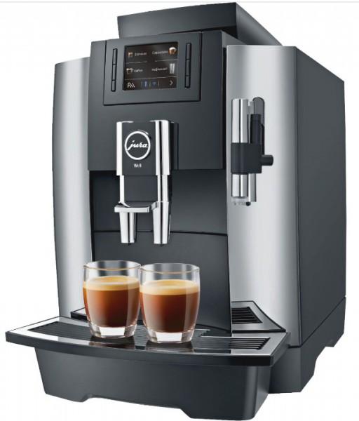 Jura WE8 chrom Proffessional Kaffeevollautomat für den Arbeitsplatz