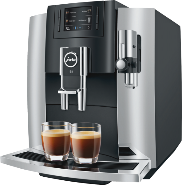 JURA E8 (Modell 2018) Chrom Kaffeevollautomat