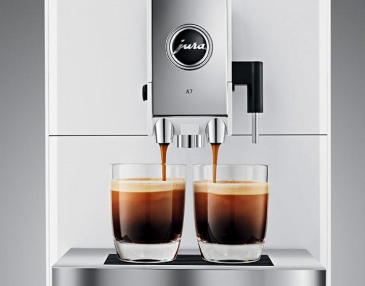 jura a7 piano white kaffeevollautomat puls extraktionsprozess hamp hausger te. Black Bedroom Furniture Sets. Home Design Ideas