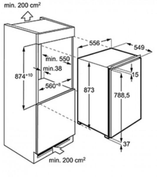 k hl gefrierkombination zum einbauen tische f r die k che. Black Bedroom Furniture Sets. Home Design Ideas